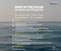 Drop in the Ocean | apoio a refugiados | 25 Novembro | Coimbra | PROGRAMA
