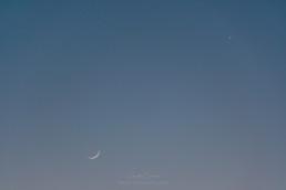 Lua e Vénus, Coimbra #615918 | © Carlos Dias 17.Abr.2018